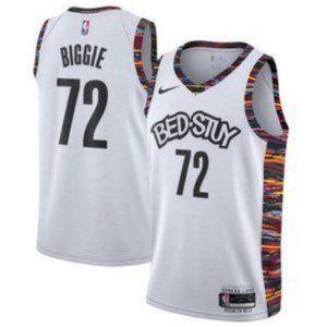 Brooklyn Nets White Biggie City Jersey